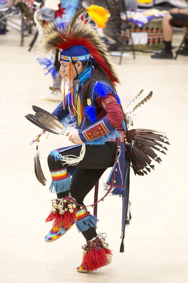 Dancer performing at the 2019 Pow-Wow