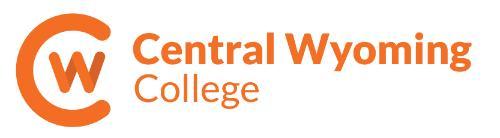 Central Wyoming College logo in orange