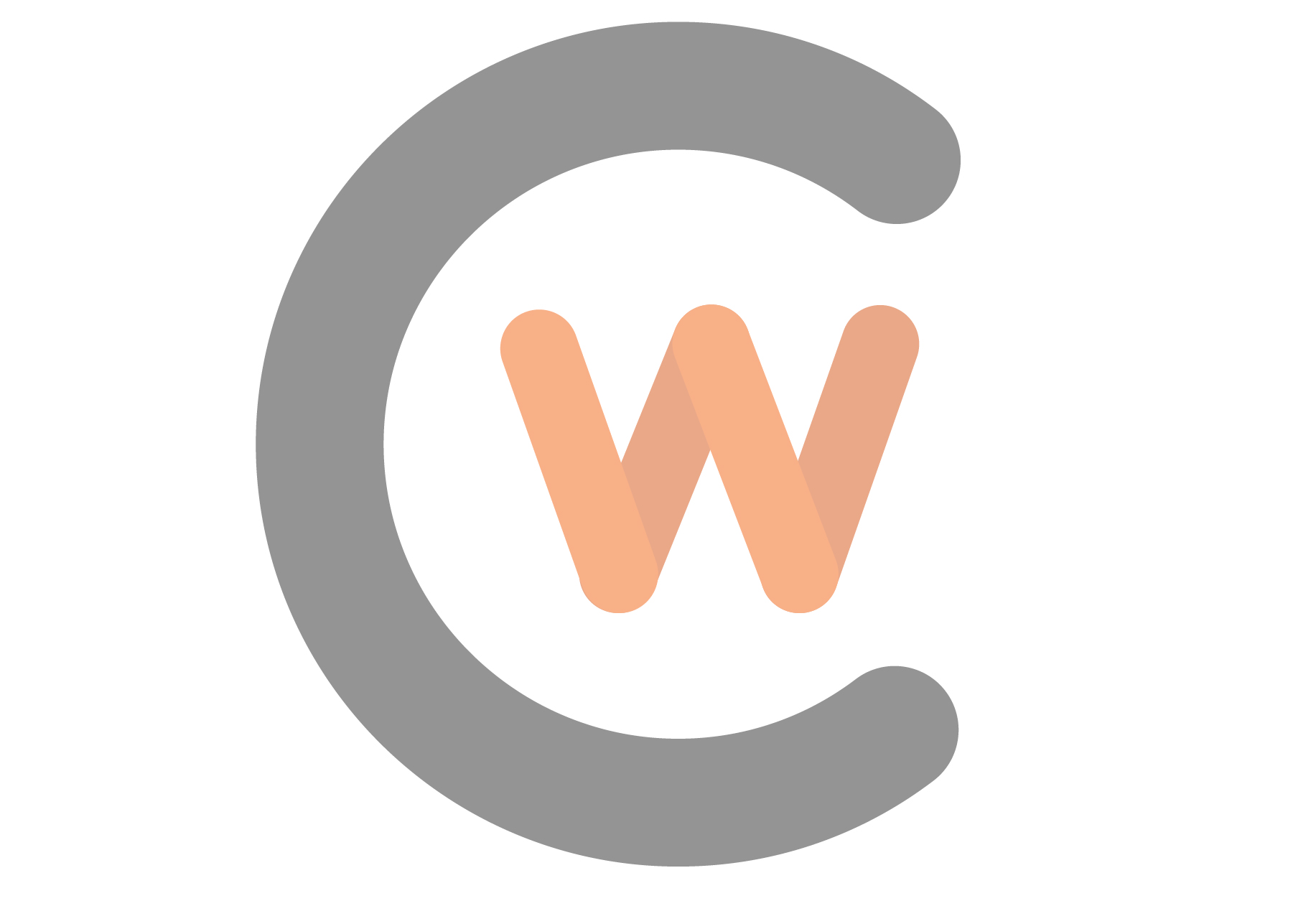 Faded cw logo