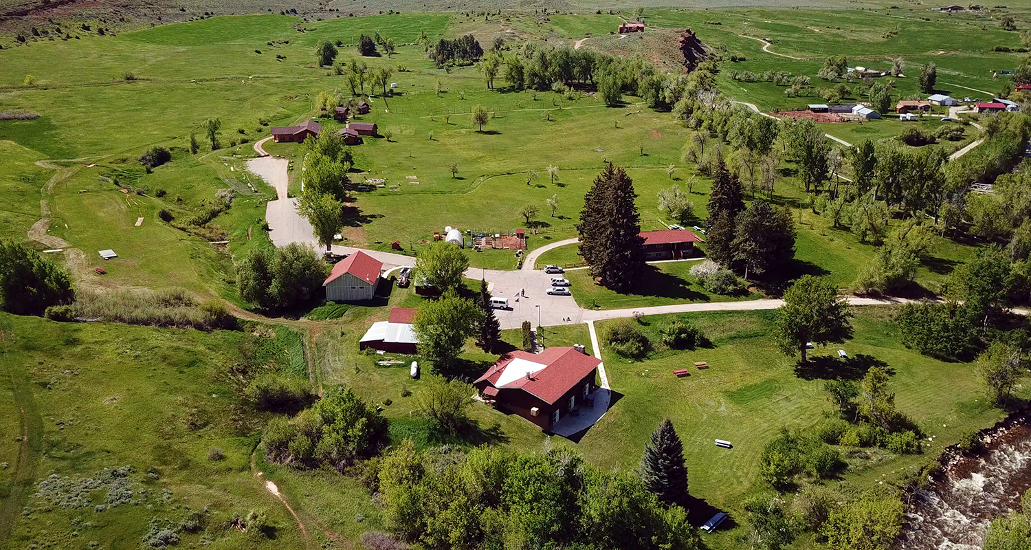 aerial view of the Alpine Science Institute