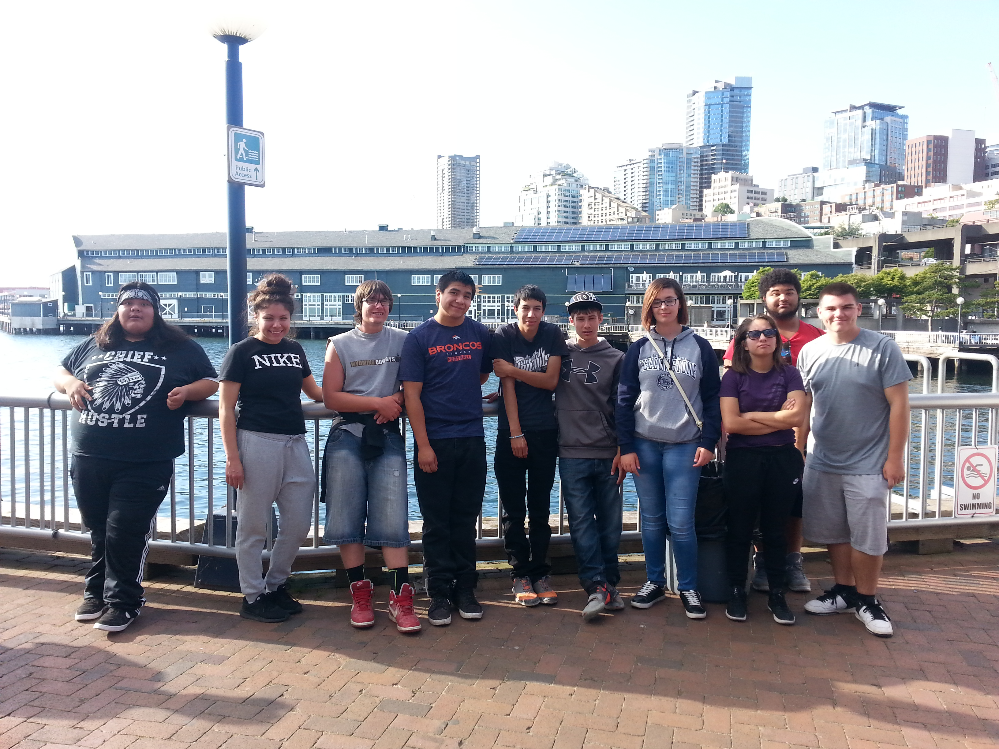 9-12th graders enjoy a trip to Seattle as part of the Upward Bound program