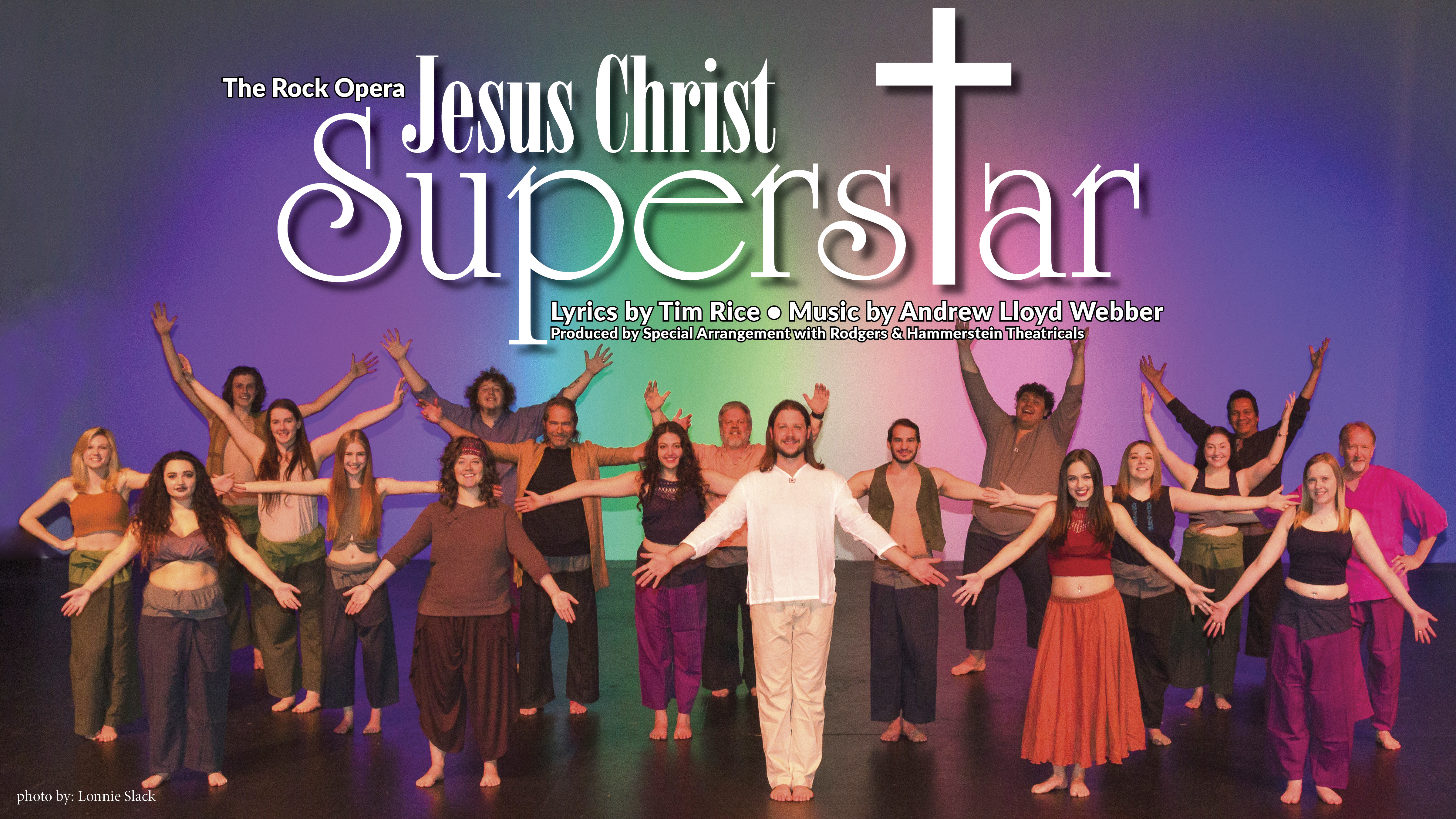 stage photo of the CWC cast of Jesus Christ Superstar